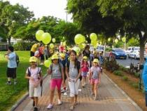 הליכה ברגל לבית הספר ברעננה
